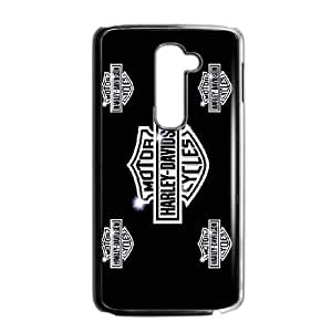 Pattern Hard Case Cover LG G2 Cell Phone Case Black Harley Davidson Suncw Back Skin Case Shell