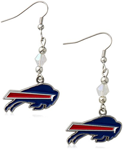 Siskiyou NFL Buffalo Bills Crystal Dangle Earrings