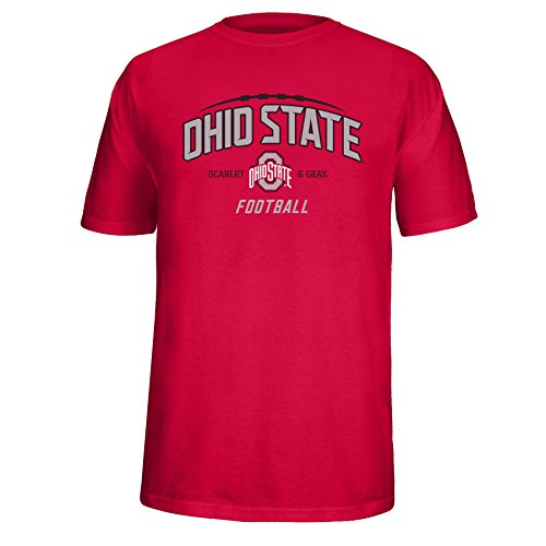 - J America Adult Unisex Ohio State Laces Tee Ohio St, Small, Red