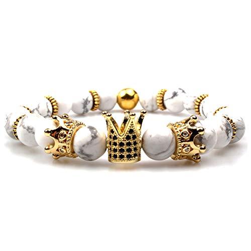 GVUSMIL Imperial Crown Bead Bracelet King&Queen Luxury Charm