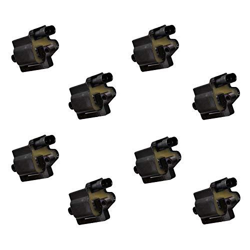 Set of 8 GAM Ignition Coil fits 1999-2007 Cadillac Escalade, Chevrolet Silverado Pickup, Suburban, Tahoe, GMC Sierra Pickup, Yukon, Yukon XL, Hummer H2 V8 4.8L 5.3L 6.0L 8.1L (Replaces 12558693, D581)