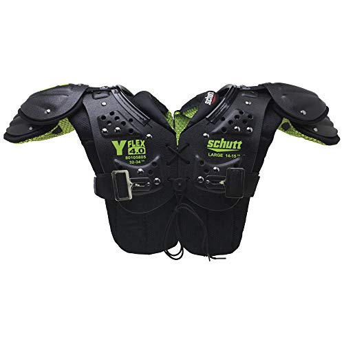 Schutt Sports Y-Flex 4.0 All-Purpose Youth Football Shoulder Pads, - Helmets Football Pads
