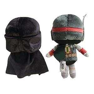 Darth Vader and Boba Fett Star Wars Funko Pop (Set of 2) Galactic Plushies Sith Lord and Mandalorian Stuffed Animals Star Wars Toys