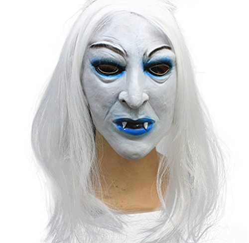Hosaire 1PCS Halloween Terrible Mask for Party/Party / Devil Club-White Random Model