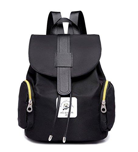 Daypack Daypacks Escursionismo VogueZone009 Nero Nylon Zaini Donna Casuale cerniere qzwH0