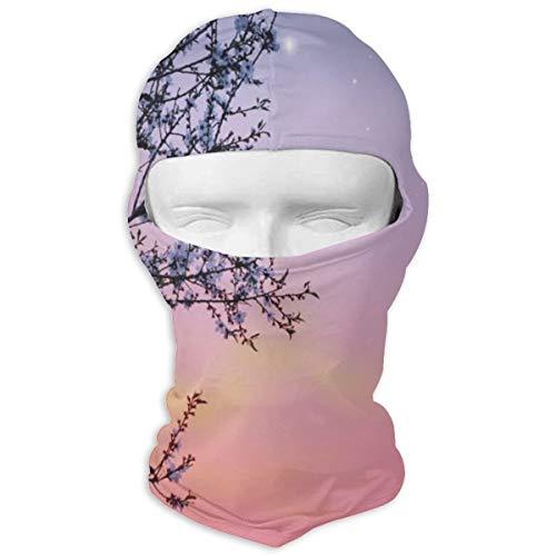 Xuforget Night Dreamlike Ethereal Sky Mens & Female Balaclavas Full Face Mask Hood White