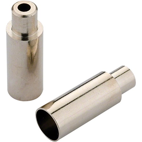 Jagwire 5mm Open End Caps, Chrome Plated, Bottle of 100 by Jagwire