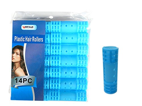 HAIR ROLLER PLASTIC 14PC 20MM, Case of 96 by DollarItemDirect