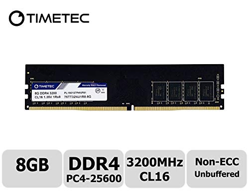 (Timetec Extreme Performance Hynix IC 8GB DDR4 3200MHz PC4-25600 CL16 1.35V Unbuffered Non-ECC Single Rank Designed for Gaming and High-Performance Compatible with AMD and Intel Desktop Memory (8GB))