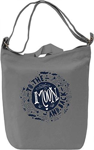 Moon Borsa Giornaliera Canvas Canvas Day Bag| 100% Premium Cotton Canvas| DTG Printing|