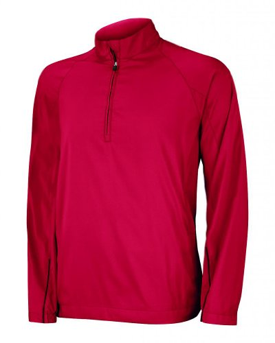 5110143853194 adidas Men's ClimaProof Wind Half Zip Jacket University Red/Black S ...