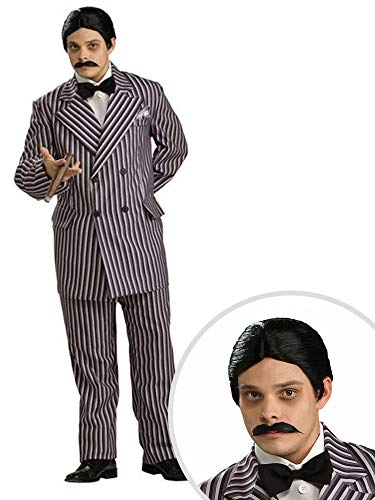 Addams Family Gomez Costume Kit Adult Small Grand Heritage with Wig and Moustache