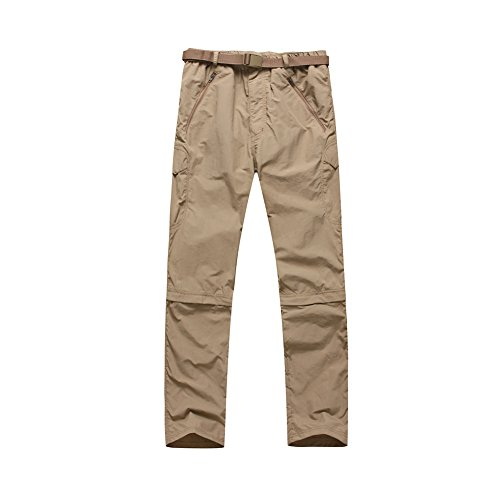 Tang Mu Sheng Men's Outdoor Hiking Tactical Cargo Pants Quick Dry Waterproof Military Removable Mud (Large)