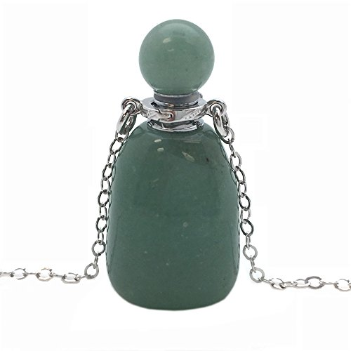 Kate Avenue Sterling Silver Gemstone Aromatherapy Essential Oil Diffuser Necklace,Perfume and Mosquito Repellent Necklace 20