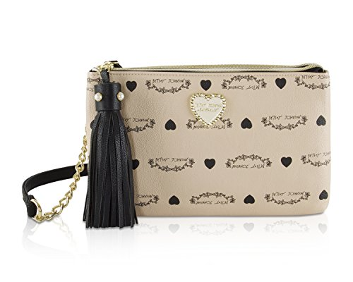 Betsey Johnson Womens Bag - Betsey Johnson Double Zip Crossbody Bag, Sand
