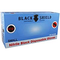 Hi Lift Nitrile Disposable Gloves 100 Pieces, Black, Small, 100 count