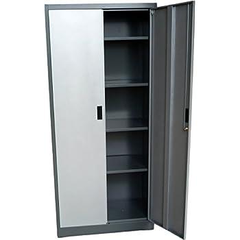 Amazon Steel Storage Cabinet 71 Tall Lockable Doors And