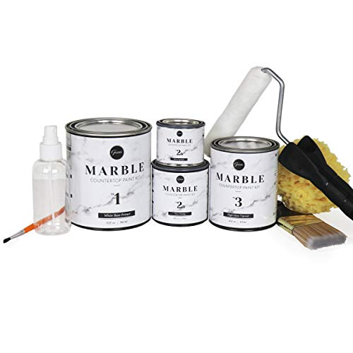 Giani Marble Countertop Paint Kit Carrara White