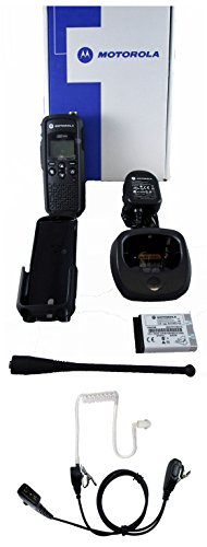 Motorola DTR550 digital 900mhz FCC license free radio and Surveillance Headset