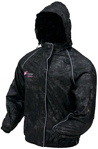 Frogg Toggs Women's Sweet ''T'' Rain Jacket (Black, Medium) by Frogg Toggs