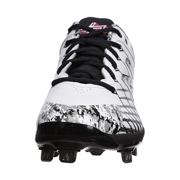 df6f042af2 New Balance Men's 4040v5 Metal Baseball Shoe, Pedroia White/CAMO, 8 XW US