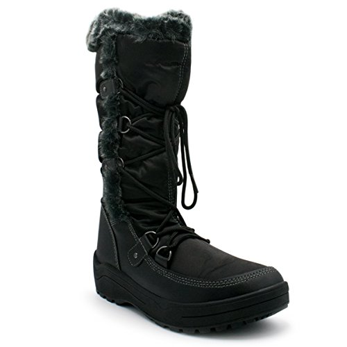 Stitching Snow Lace Boots Premier Mid Up Standard Women's Black Premier Calf 0aqEwZPac