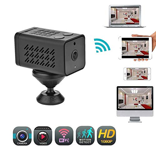 HowLoo Mini WiFi Camera of Home Monitor 1080P 1MP Audio Video Recorder Motion Detection Night Vision Camcorder FCD-WJ11