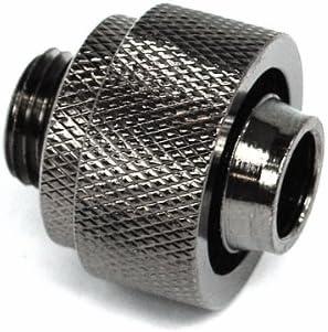 ger/ändelt black nickel 19//13mm Anschraubt/ülle G1//4