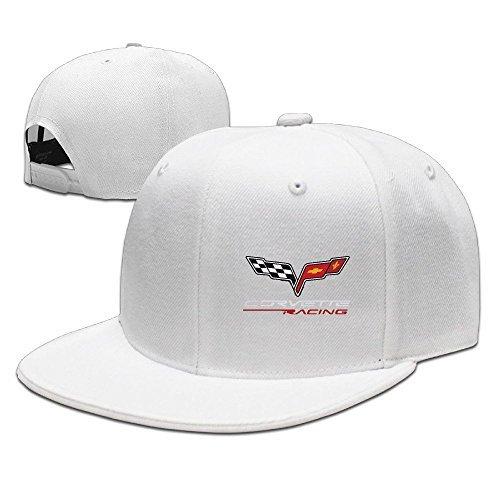 Casual Men Women Extreme Sports MOTTO CORVETTE RACING Flat Ajustable Snapback Cap (Evolution Corvette)