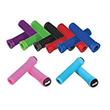 ODI LONGNECK GRIPS Flangeless For BMX and Scooters RED