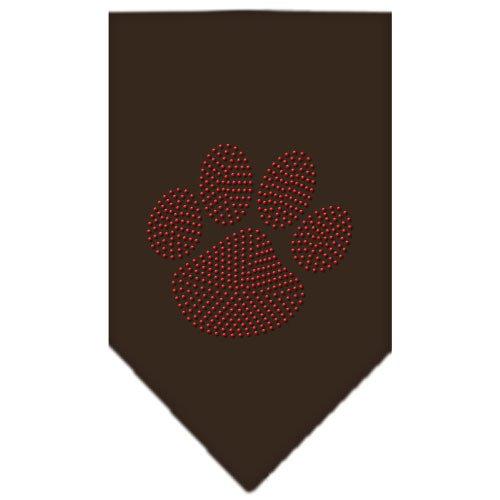 Mirage Pet Products Paw Red Rhinestone Bandana, Large, Cocoa