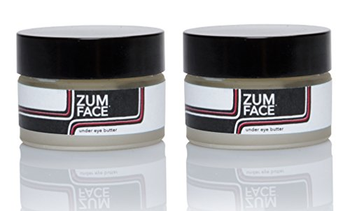 Zum Face Under Eye Butter Pack of 2 with Organic Shea Butter, Macadamia Nut Oil, Evening Primrose Oil, Beeswax, Essential Oils and Vitamin E, 1 oz