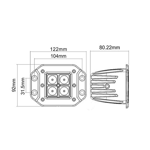 night break light 24w flush mount spot led pods  cubes