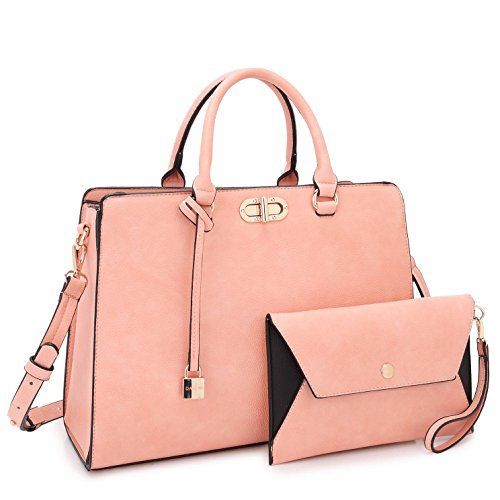 (MMK collection Fashion Women Purses and Handbags Ladies Designer Satchel Handbag Tote Bag Shoulder Bags with coin purse (XL-23-7581-pink))