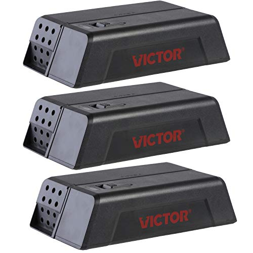 (Victor M250SSR-3 Electronic Mouse Trap-3 Pack, Black)