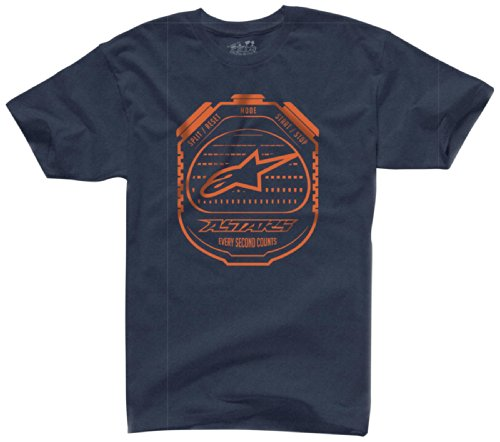 ALPINESTARS Men's Counter T-Shirt, Navy Heather, X-Large