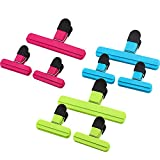 Onebom Bag Chip Clips, Fresh Food Clips, Photo File Clamps, for Kitchen Office (9 Clips)