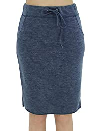 BENANCY Women's High Waist Stretch Pencil Skirt with Pockets