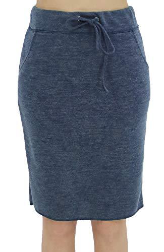 - BENANCY Women's High Waist Stretch Pencil Skirt with Pockets Blue XXL