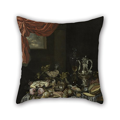 [Loveloveu 18 X 18 Inches / 45 By 45 Cm Oil Painting Abraham Van Beijeren - Sumptuous Still Life Pillowcover ,twice Sides Ornament And Gift To Teens,outdoor,wedding,play] (Punk Rocker Girl Costume Ideas)