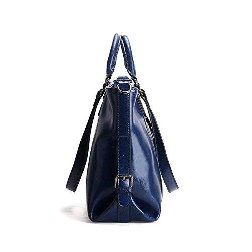 E LF Sac Bleu Girl portés en Sac main portés fashion à Sac femme épaule main 6178 cuir rqr5xR