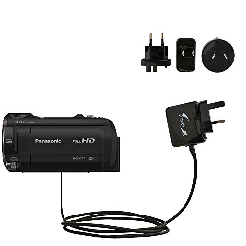 International AC Home Wall Charger suitable for the Panasonic HC-V770 / HC-V777 - 10W Charge supports wall outlets and voltages worldwide - Uses Gomadic Brand TipExchange by Gomadic