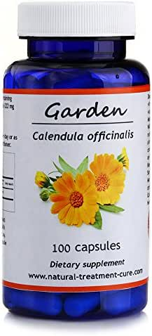 Hekma Center Pure Calendula Officinalis - Garden Marigold - 100 Capsules for Skin and Menstrual Cycle - Vegan