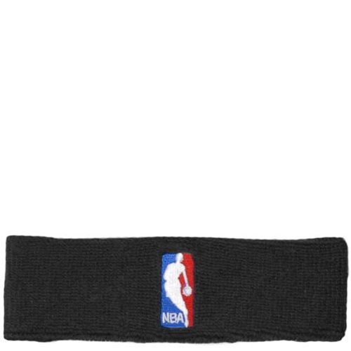 For Bare Feet Cotton Headband - NBA Logoman Headband - Black - Black One Size