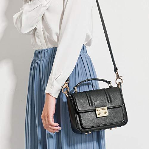 sac PU main femme pour Lxf20 bandoulière carré femme Sac à Sac Sac pour à Petit Blanc Lock ftCtqFYw