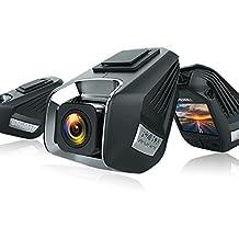 MERRILL Dash Cam Dual Cams 1080P 170° Wide Angle Loop Recording G-sensor Remote Control 16G SD Card