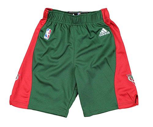 adidas Milwaukee Bucks NBA Youth Big Boys Replica Road Shorts - Green (Large (14/16))