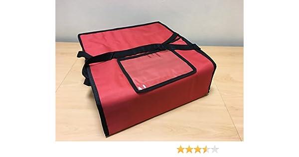 Bolsas para entrega de pizza de 43 cm x 43 cm X 15 cm, bolsa de aislamiento térmico para transportar alimentos T10 Rojo