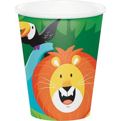 Club Pack Jungle Safari Birthday Printed 9oz Paper Cups, Box of 96