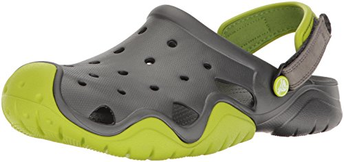 Crocs Swiftwater Men Clogs Green (Volt Green/Graphite) LLlB8yQM